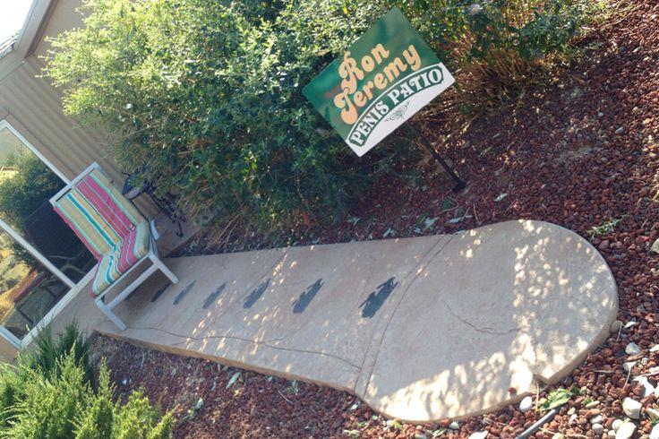 Ron Jeremy patio at Nevada's Moonlite BunnyRanch.