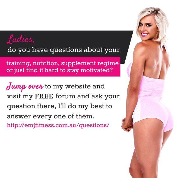 Ask questions on emjfitness.com.au