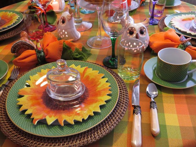 FABBY\u0027S LIVING Our Thanksgiving Table is Set & 5203 best Tablescapes Autumn images on Pinterest | Table settings ...