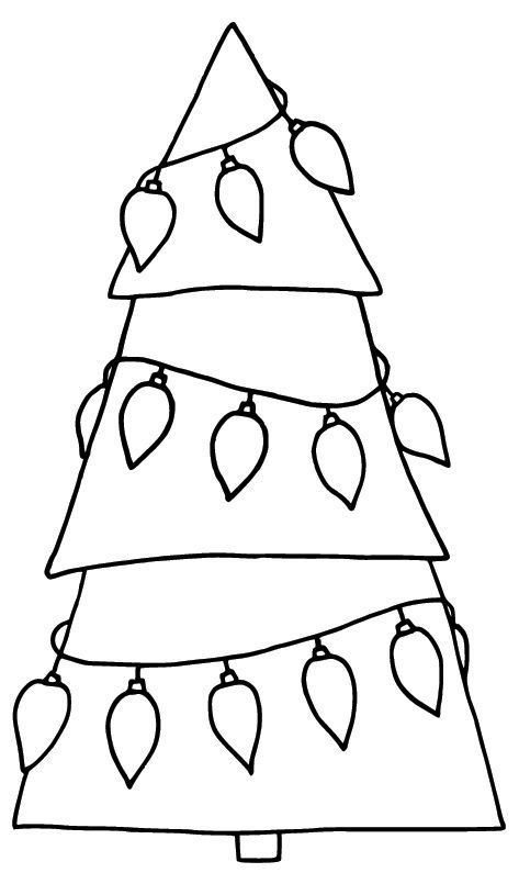 17 best images about kerst kleurplaten on pinterest for Plain christmas tree coloring page