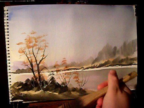"""▶ """"Misty River"""" Part 2 Watercolour Painting Demonstration - YouTube"""