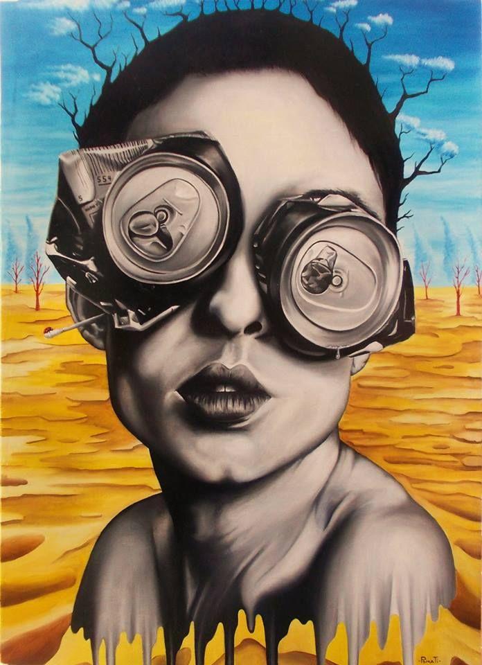 """""""LA FOLIE"""" Artist: Paolo Pomati  _________________________________________________ olio su tavola 50x70  ( maggio 2015 )"""