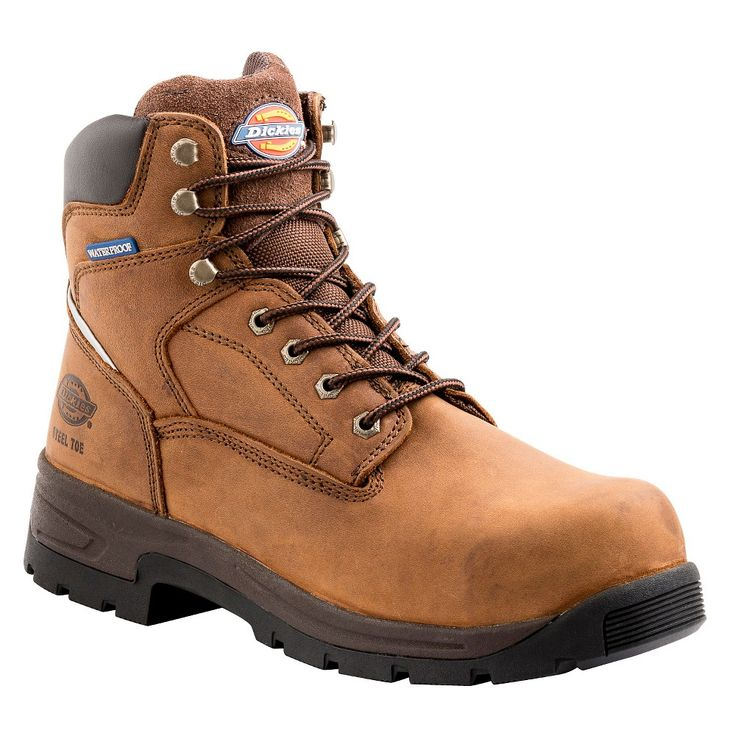Men's Dickies Stryker Work Boots - Brown 10.5
