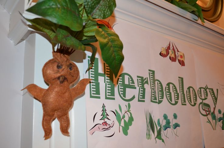 Harry Potter/Herbology DIY felt baby mandrake