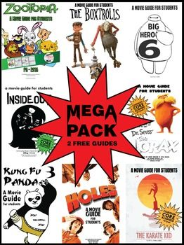 Movie Guide - Mega Pack - 8 best-selling movie guides for the price of 6!