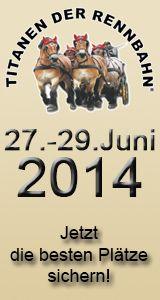 """Was als Motto bislang nur auf dem Papier stand, wurde am Freitagvormittag in der Brücker Titanenarena unter Beweis gestellt. Souverän zog """"Pferdekraft und Gerstensaft"""" in das Rennoval der Lindestraße ein. Die Zeit, für den so genannten """"ersten Vorgeschmack"""" auf die 13. Titanen der Rennbahn vom 27. bis 29. Juni 2014 war damit reif."""