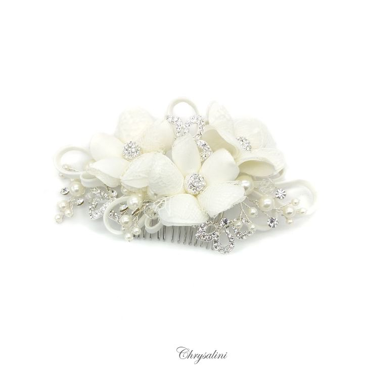 Aria | Satin and Pearl Floral Piece