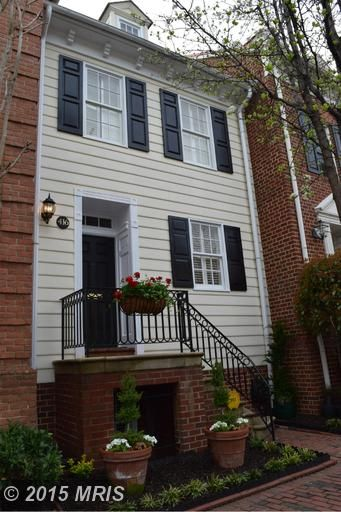 416 PITT ST, Alexandria, VA 22314 (MLS # AX8610505) - Herbert Riggs Realtor - FABULOUS!! IN HEART OF HISTORIC OLD TOWN Bulfinch Square TH w/Cherry Kitchen Cabs, GE Profile SS Apps, Granite Counters, Butler Counter, Refin. Floors, Updated Baths, 2 Off-St D