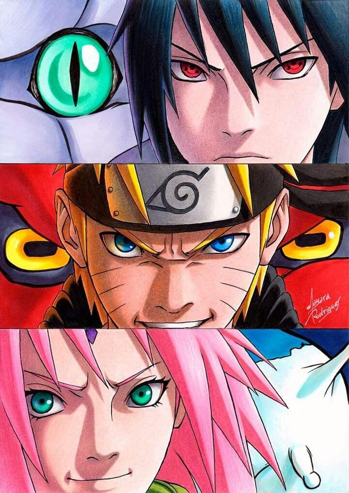 Naruto Shippuden Team 7 Reunites Again Naruto Wallpaper With Images Naruto Team 7 Naruto Teams Anime
