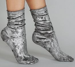 silver velvet socks - luxurious, regal & cool toned