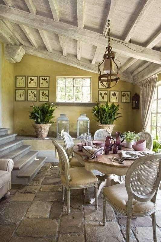 Le case di campagna più belle - Elegante sala da pranzo