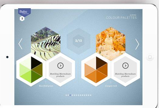 Welke marmoleumvloer past het beste bij jou? Je ziet het met de Forbo Flooring Marmoleum App.