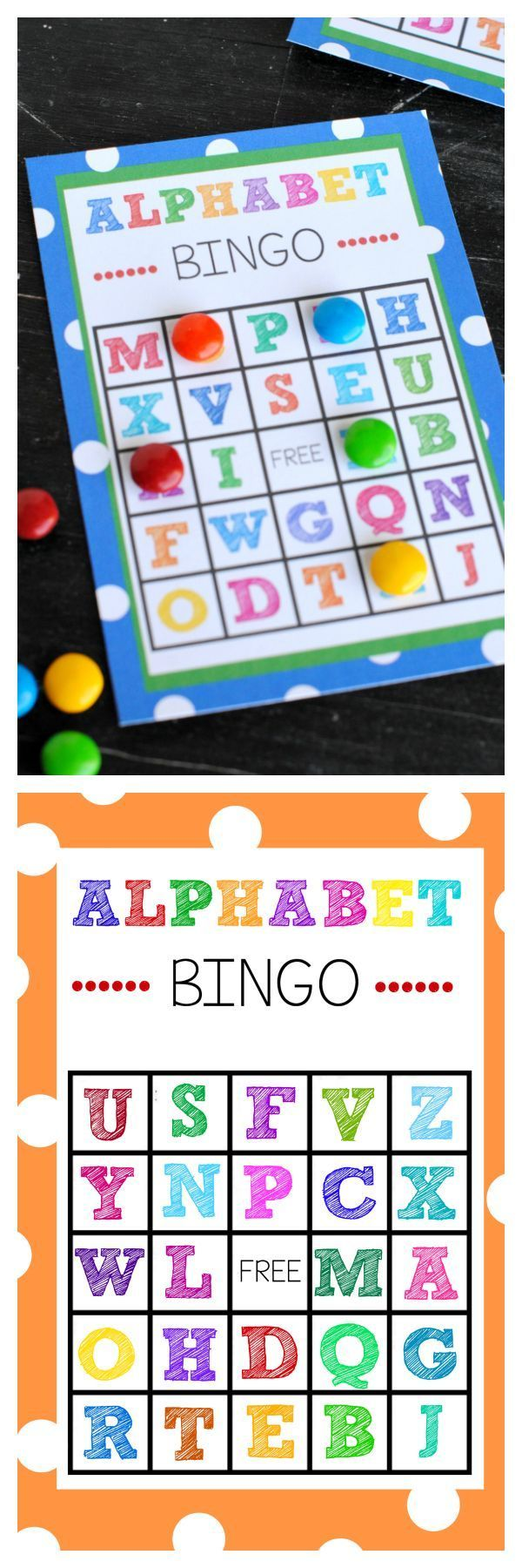 Free Printable Alphabet Bingo Game
