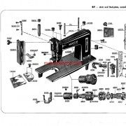 Necchi BF – BU Nova sewing machine parts catalogue.  This lists parts and diagrams only.  This is a pdf download.  It is 24 pages long.