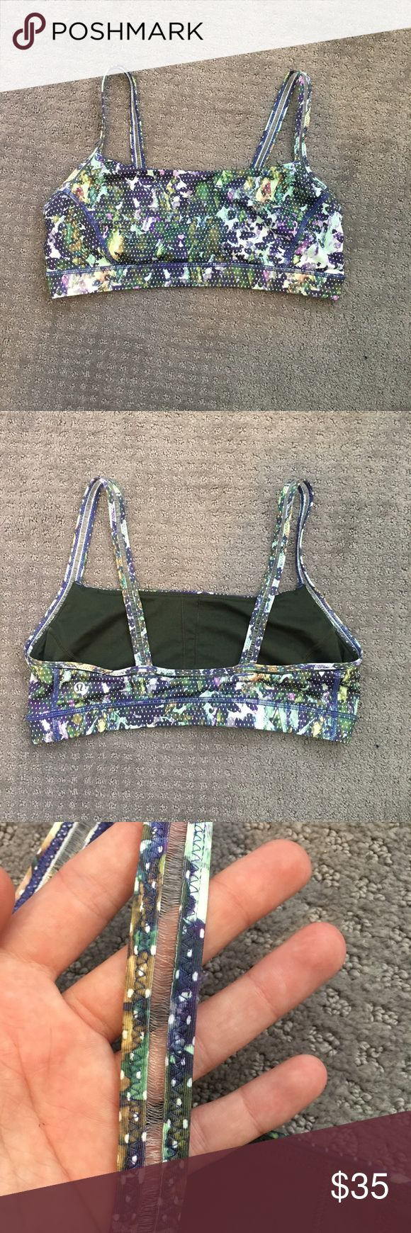 Lululemon floral sports bra Super cute patterned sports bra from lululemon. Size 12. In great condition, really great for working out! Very supportive. No padding lululemon athletica Intimates & Sleepwear Bras