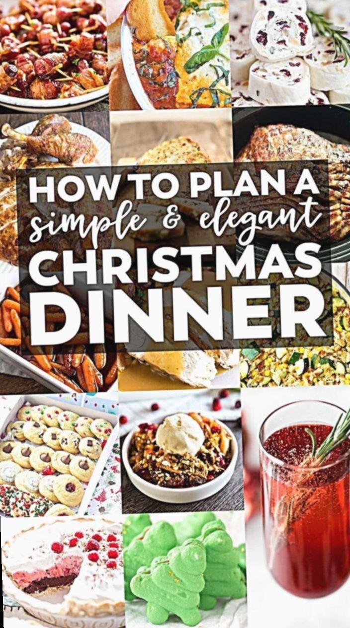 13+ Christmas Food Dinner Buffet en 2020 Menu dîner