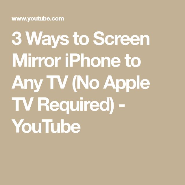 3 Ways to Screen Mirror iPhone to Any TV (No Apple TV Required) - YouTube