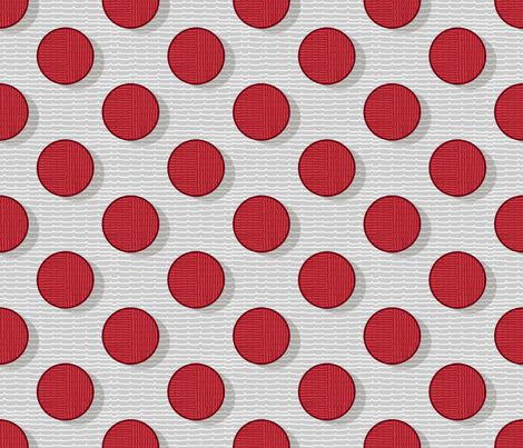 pois in red 50 fabric by chicca_besso on Spoonflower - custom fabric