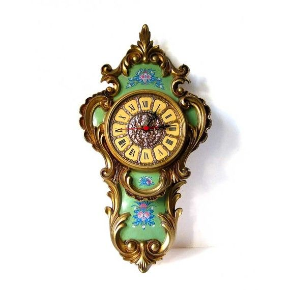 French Rococo Wall Clock Made In Western Germany Large