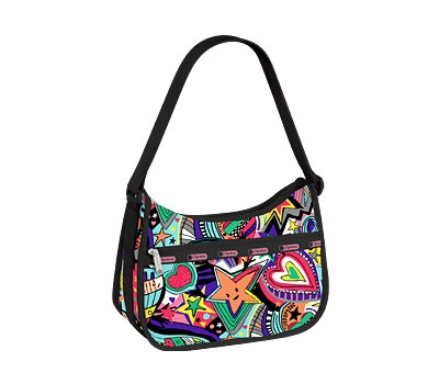 """""""Breakdance"""" print, I actually don't like this particular bag type at all.  But I love the print!  I found this print in a magazine and it's the whole reason I found this brand at all!"""