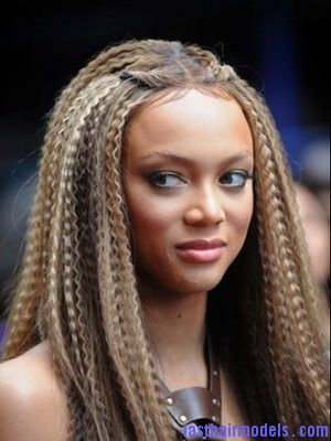 Brazilian hairstyles- brownish/ blonde braid