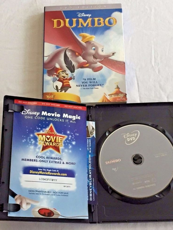 Disney Dumbo DVD Edition with Outer Sleeve Feature Film Plus Bonus Features