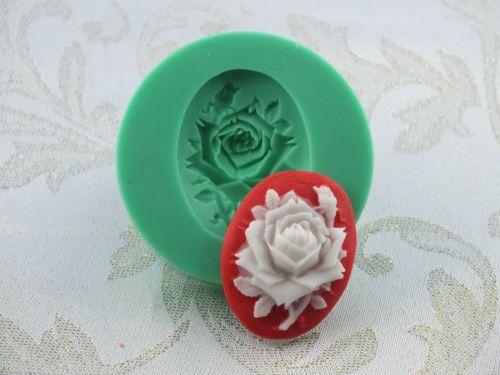 Silikonform-Silikon-Mould-lebensmittelecht-Fondant-Cameo-Gemmen-Rose