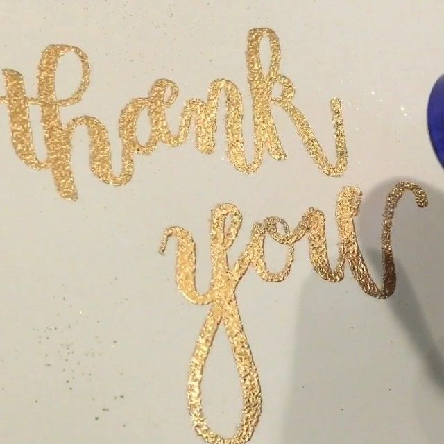 Whoa.  We hit 5k followers today and we just have to say a big THANK YOU to this amazing IG community! We have made and met so many calligrafriends along our journey and are thankful to have found such a nice group of folks to share our passion with!  -lisa + lauren  Pen: ranger embossing brush pen  Embossing powder: gold glitter @papersource  Video speed: 8x (full video on our YouTube channel)  #inkandsea #inkandseacalligraphy #calligraphy #moderncalligraphy #gold #thankyou #emboss