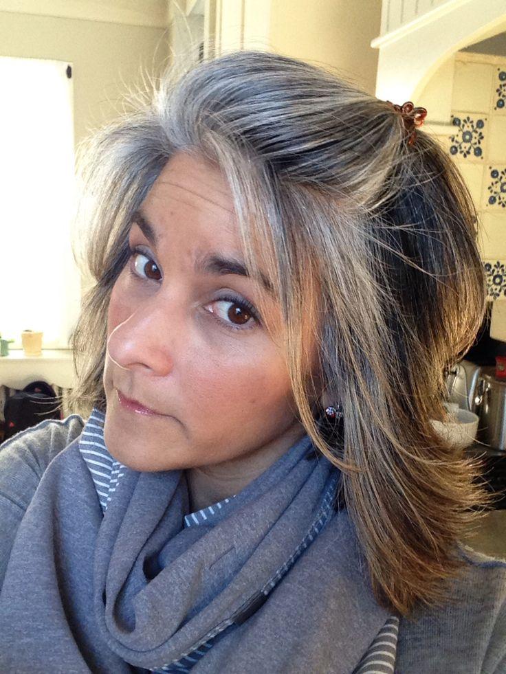 71 besten graue haare rauswachsen lassen bilder auf pinterest frisuren graue haare und. Black Bedroom Furniture Sets. Home Design Ideas
