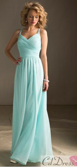 What a stunning Tiffany Blue empire waist dress!