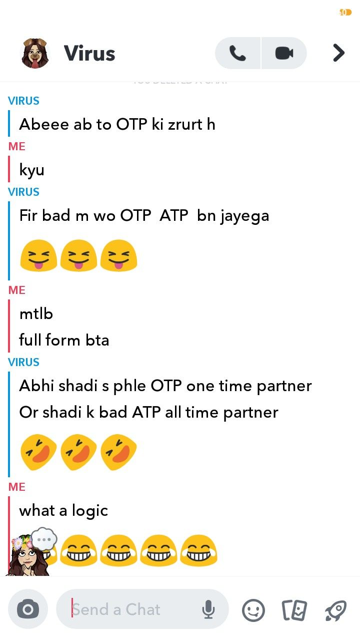 2 Part Aaj Pta Chala Otp Ka Logical Full Form Feeling Loved Crazy Funny Memes Wtf Funny