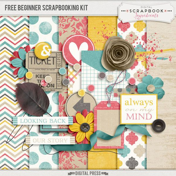 FREE Beginner Scrapbook Kit from Digital Scrapbook Ingredients