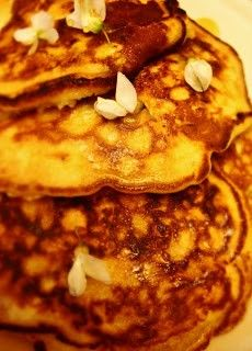 Fluffy & fragrant Acacia flower pancakes