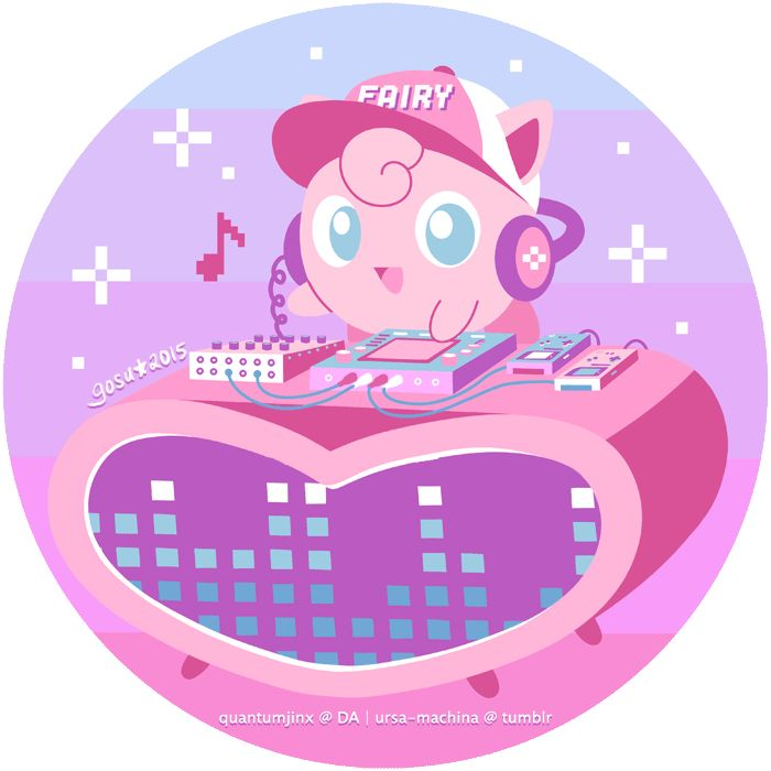 "ursa-machina: "" Chiptune Jigglypuff for Pokemon Art Weekly Available on RedBubble """