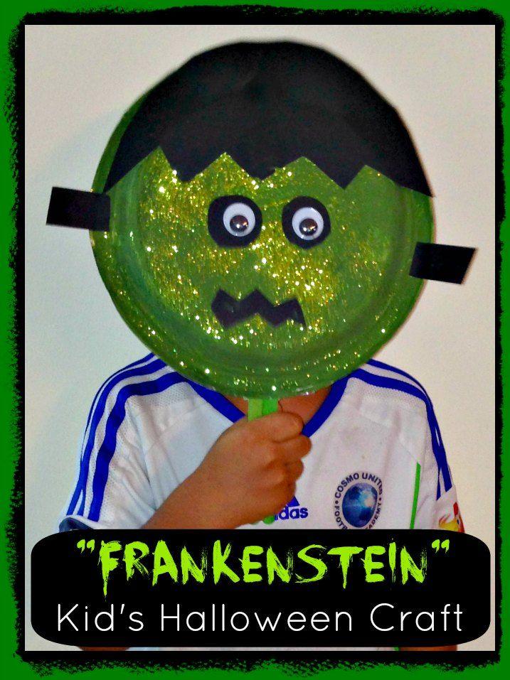 Frankenstein Monster  - Easy Kid's Halloween Craft #halloween #kids #craft