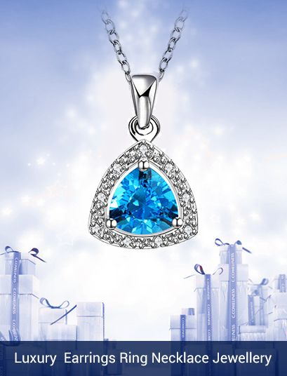 Luxury Top Cubic Zircon Plating 925 Silver Earrings Ring Necklace Jewellery Suit