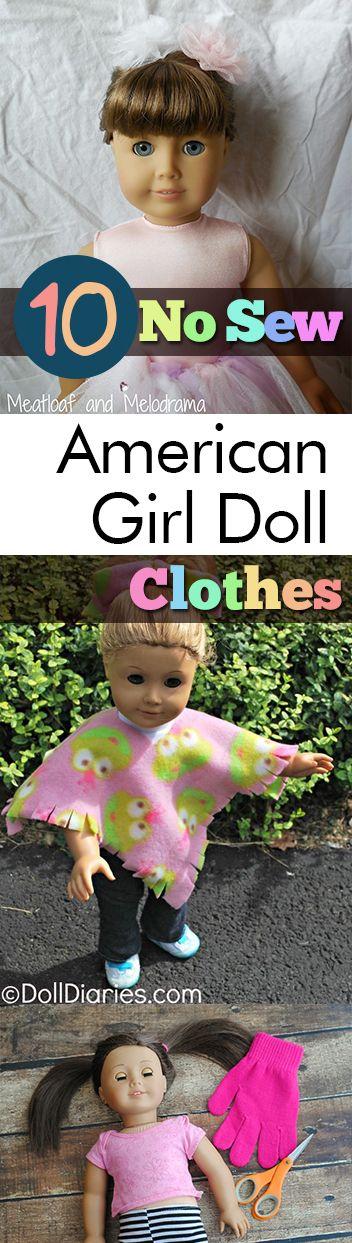 10 Geen naai Amerikaanse meisjespopkleren