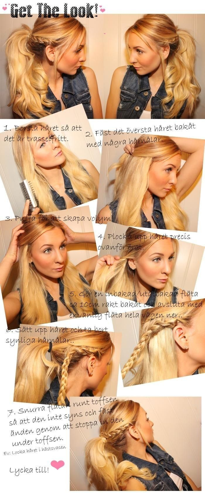 Holiday Ponytail Hairstyles Tutorial: Ponytail Braids - PoPular Haircuts #hair #updo