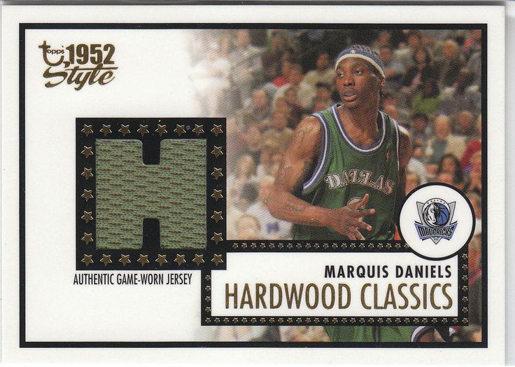 2005-06 Topps Style Hardwood Classics  GREEN JSY #MDA Marquis Daniels  #DallasMavericks