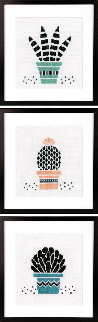 Love these modern cross stitch succulent and cactus patterns xx