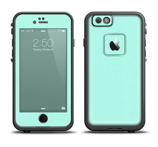 The Subtle Solid Green Skin Set for the Apple iPhone 6 LifeProof Fre Case