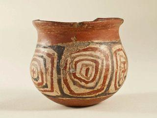 Vaso decorado. El Olivar. Diaguita. Cerámica. 10,1 x 12,4 cm. Colección Norte Chico