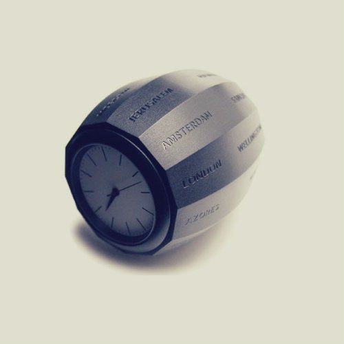 World time clock barrel.