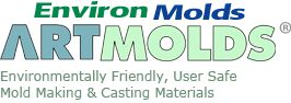 Life casting, mold making. molding materials, casting materials, supplies, books, educational videos and resources from Environmolds.