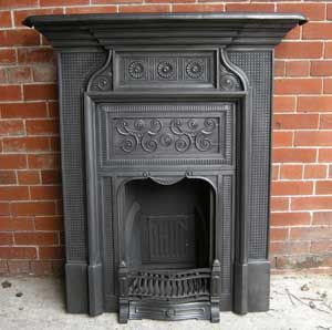 Victorian bedroom fireplace.