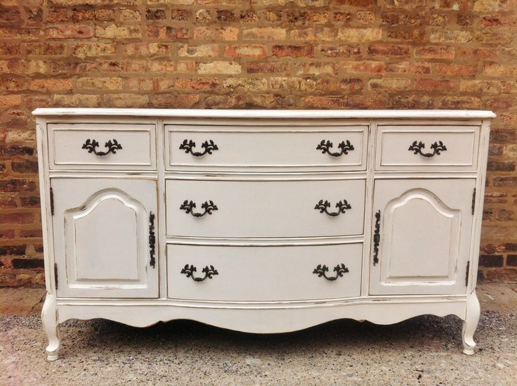 Vintage French Provincial Buffet In Heavy Cream