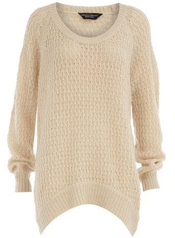 Dorothy Perkins  Ivory open stitch jumper
