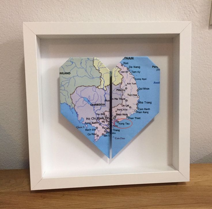 A personal favourite from my Etsy shop https://www.etsy.com/au/listing/518819947/framed-heart-origami-wedding-anniversary