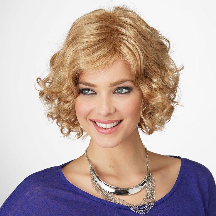 Bouquet wig Natural Image shown in colour Butterscotch