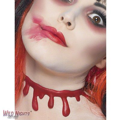 #Fancy dress #accessory # halloween red slashed up blood drip #choker ,  View more on the LINK: http://www.zeppy.io/product/gb/2/400572790628/